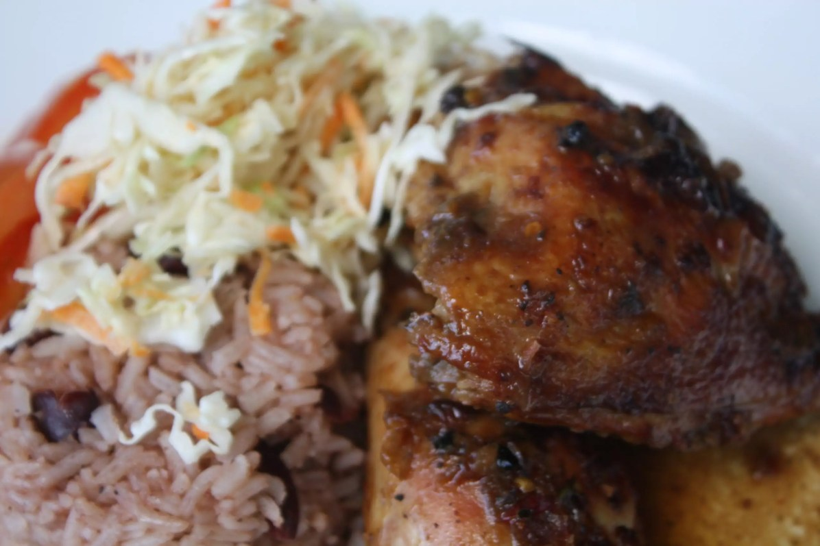 Traditional Jamaican Food - Jerk Chicken