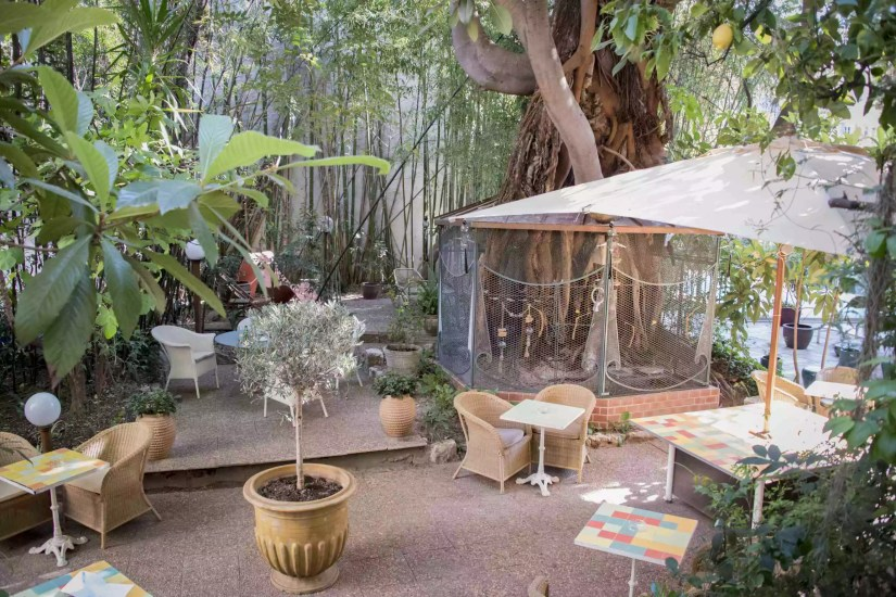 L'hôtel WindsoR à Nice: le jardin