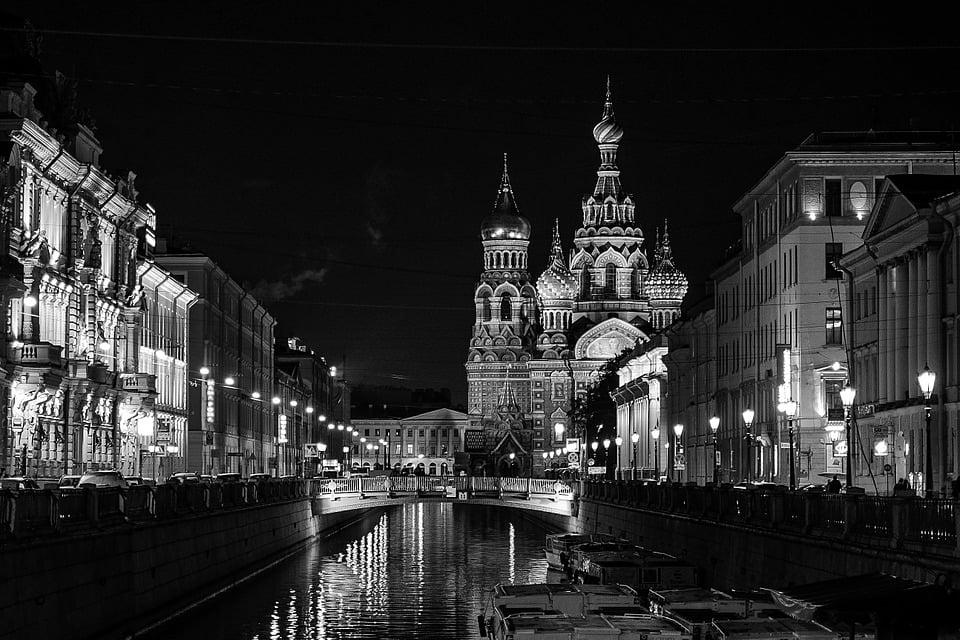 Pays les plus visités - Russie. Ici, Saint-Pétersbourg. Photo libre de droits