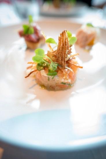 Tandem, restaurant apportez votre vin dans Villeray - Amuse-bouche: tartare de saumons frais et fumé