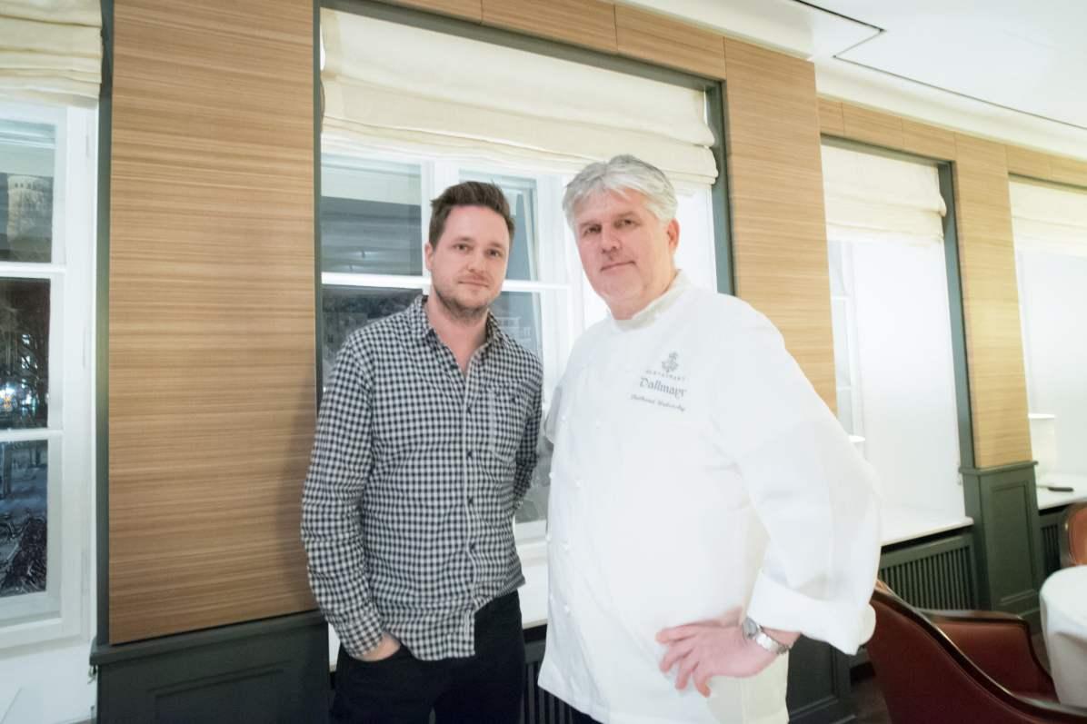 Dallmayr, restaurant à Munich: Cedric Lizotte et Chef Diethard Urbansky