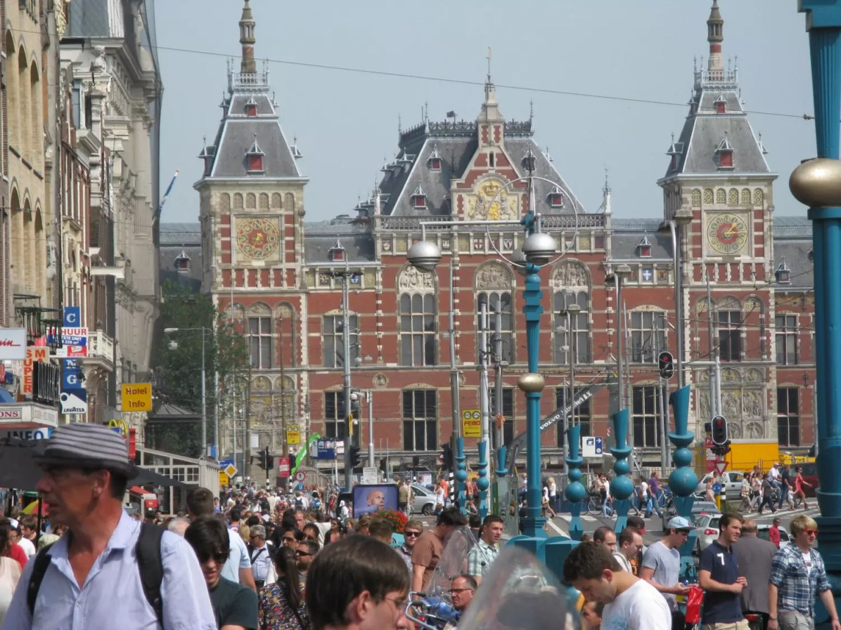 Amsterdam Central Station - This is a copyright-free photo - Amsterdam Travel Blog