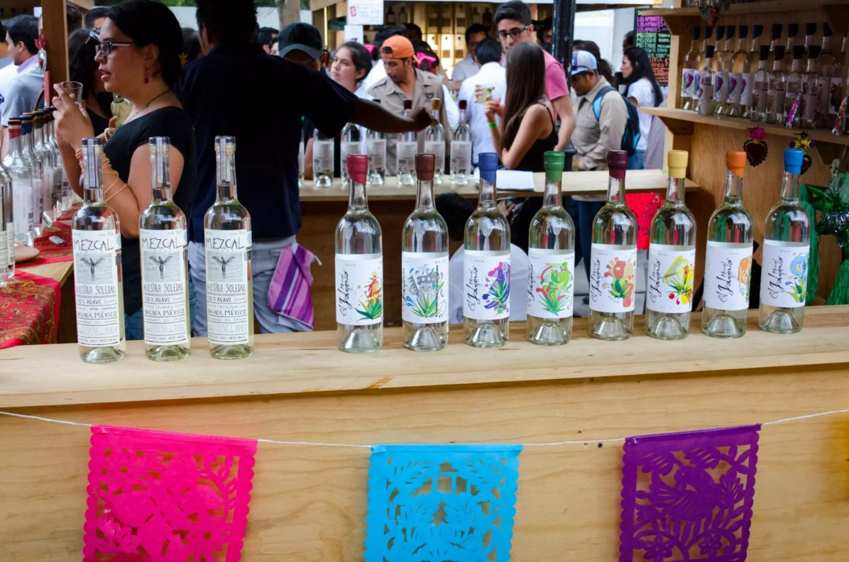 A selection of mezcals - What to eat in Oaxaca City