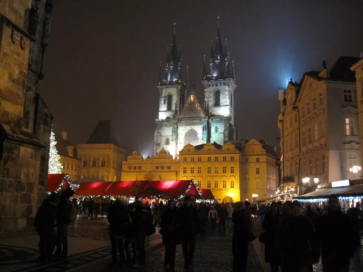 New Years Eve Vacations: Prague - Royalty Free Photo