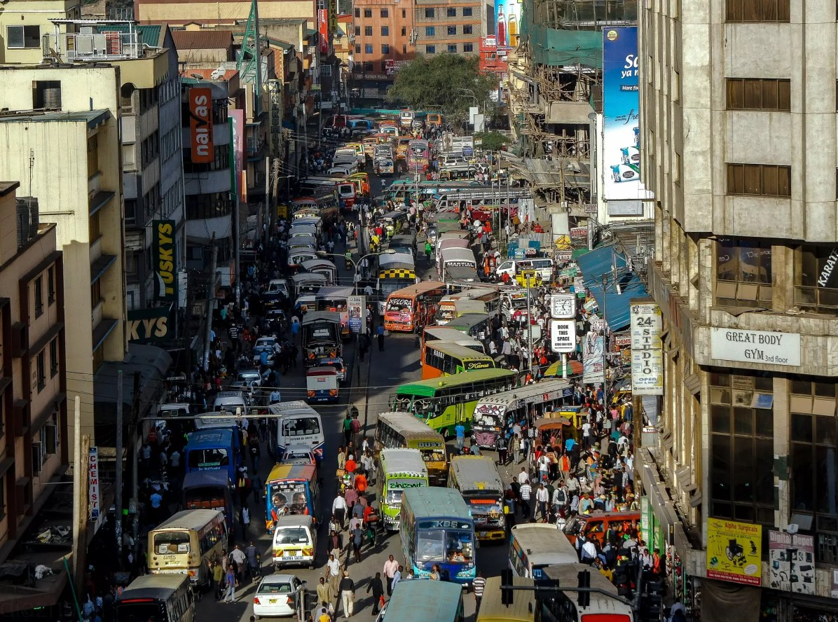 The traffic in Nairobi can be intense. - This is a copyright-free photo - Things to do in Nairobi
