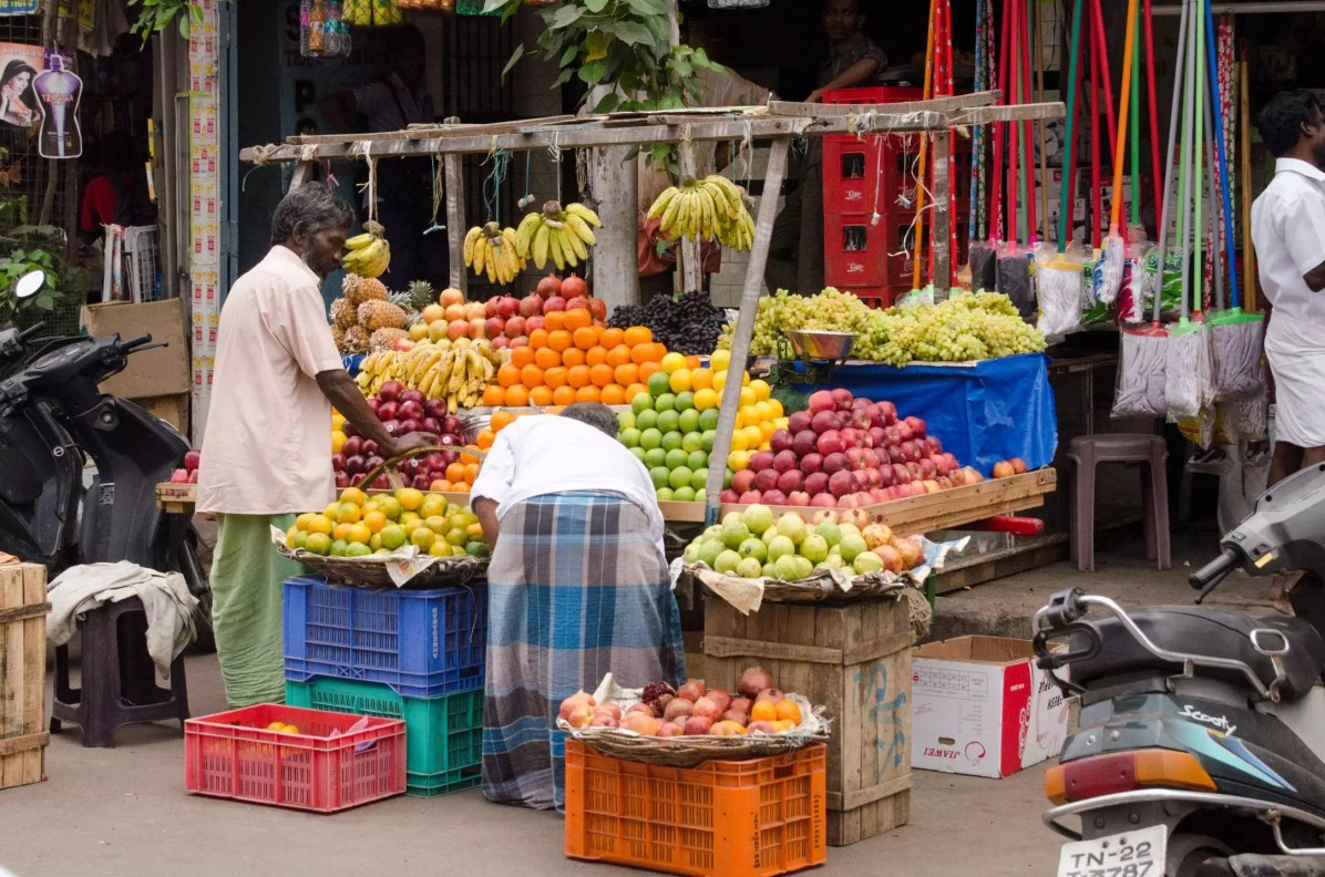 Chennai Travel Blog - Fruit Market