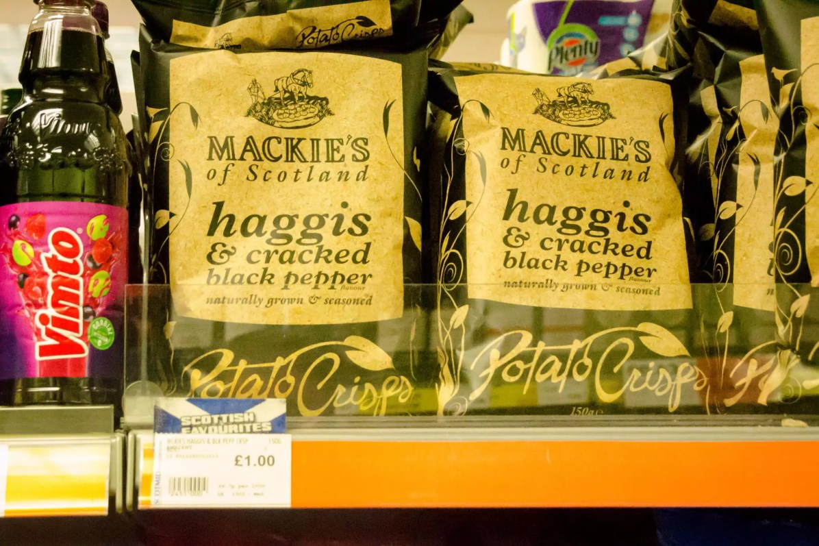 Edinburgh Travel Blog - Haggis Flavoured Chips/Crisps