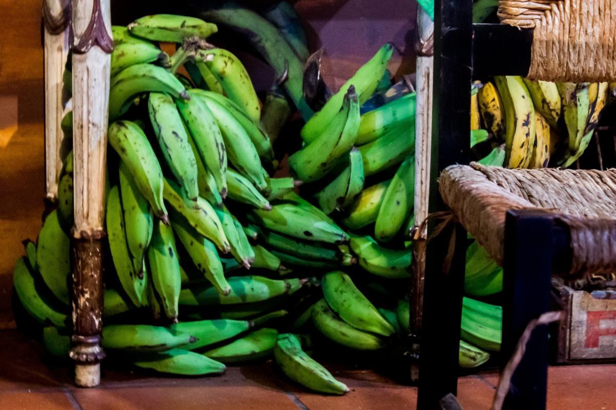Kenyan food : plantain cooking bananas