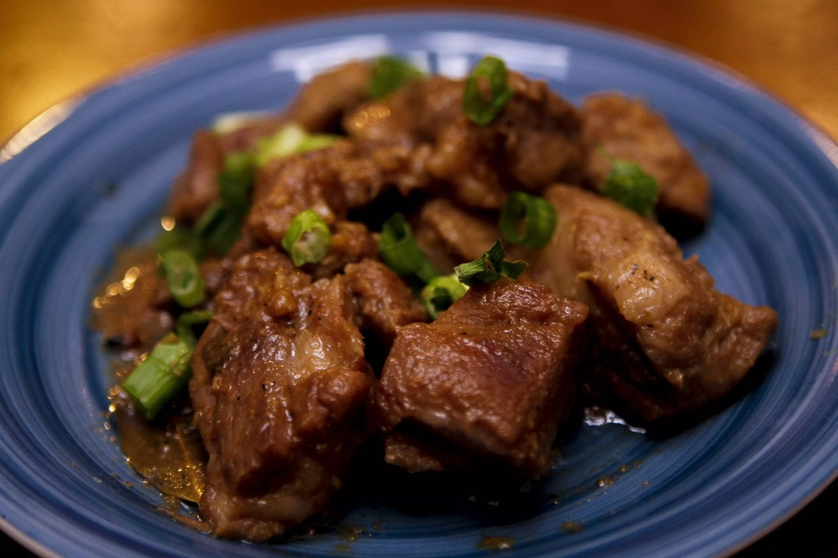 Andrew Zimmern Delicious Destinations Manila -Pork Adobo