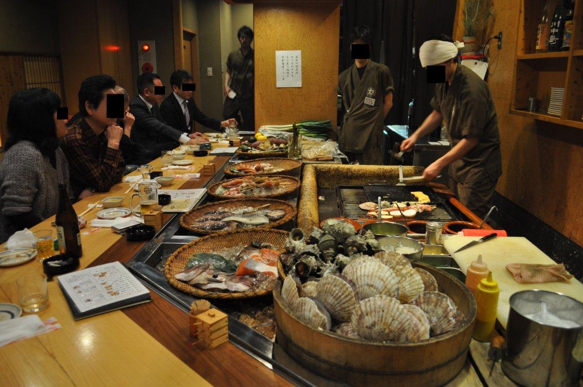 anthony bourdain hokkaido - People eating Japanese food