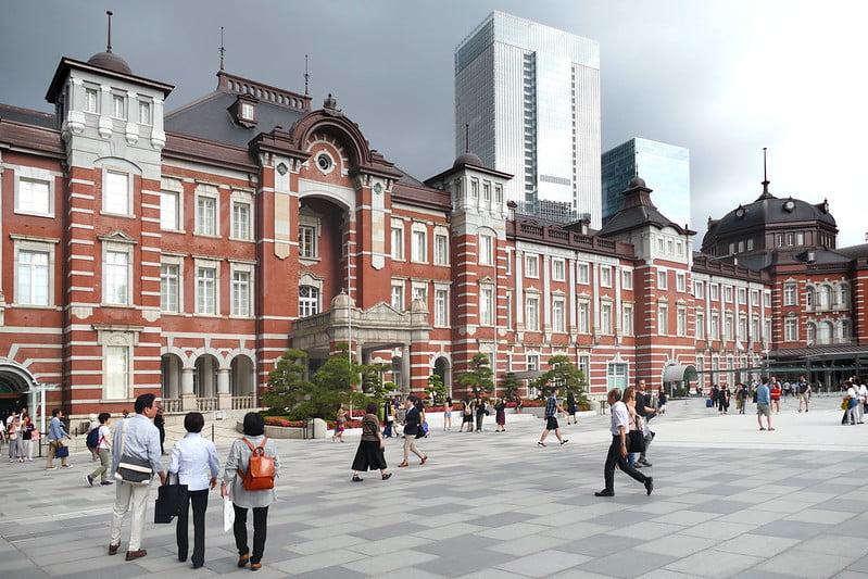 Tokyo Station - photo by Bernard Spragg. NZ under Public Domain Mark 1.0