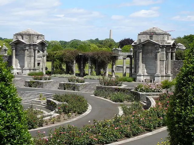 Irish National War Memorial Gardens in Dublin, Ireland - photo by Osioni under PD-self