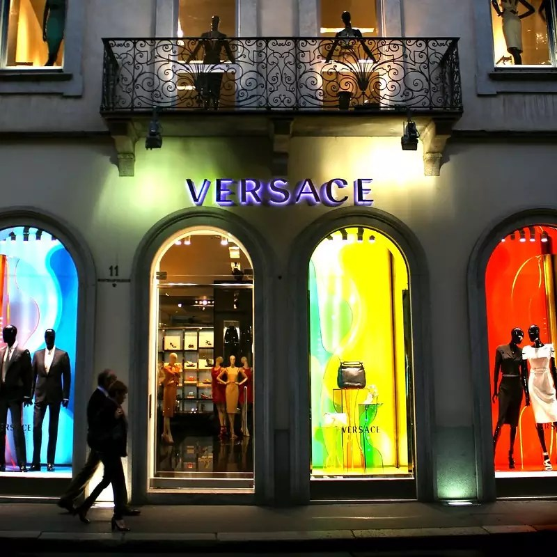 best shopping in Milan - Versace boutique on Via Monte Napoleone - photo by Dimitry B. under CC BY 2.0