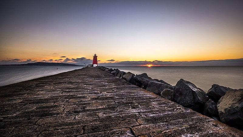 Poolbeg Lighthouse - photo by Giuseppe Milo under CC BY 3.0
