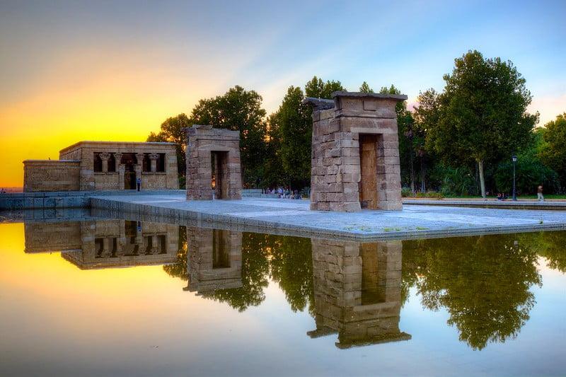 Templo de Debod, Madrid - photo by Jiuguang Wang under CC BY-SA 2.0