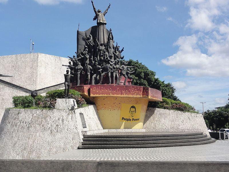 historical sites in Quezon City - People Power Monument at EDSA corner White Plains Avenue, Quezon City - photo by Patrick Roque under GFDL and CC BY-SA 4.0