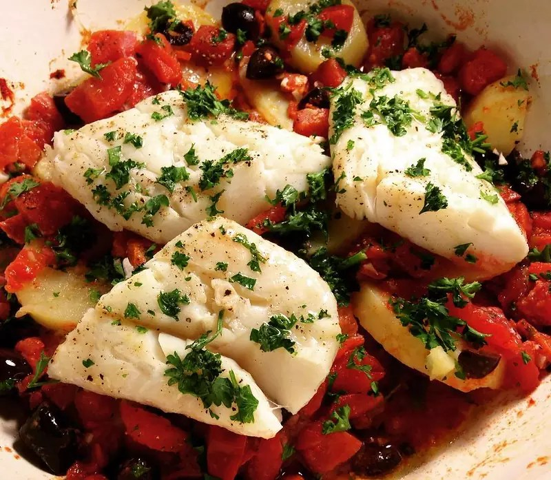 Salt Cod with Tomatoes - photo by Farther Along under CC BY 2.0