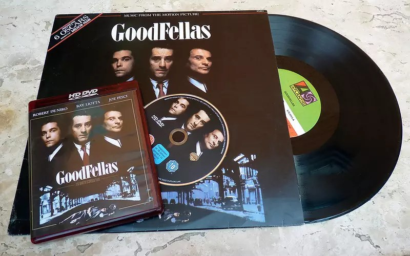 GoodFellas on HD-DVD and the OST on Vinyl - photo by Diego Torres Silvestre under CC BY 2.0