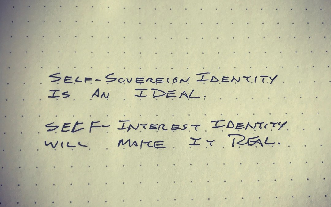 Self-Serving Identity not Self-Sovereign Identity