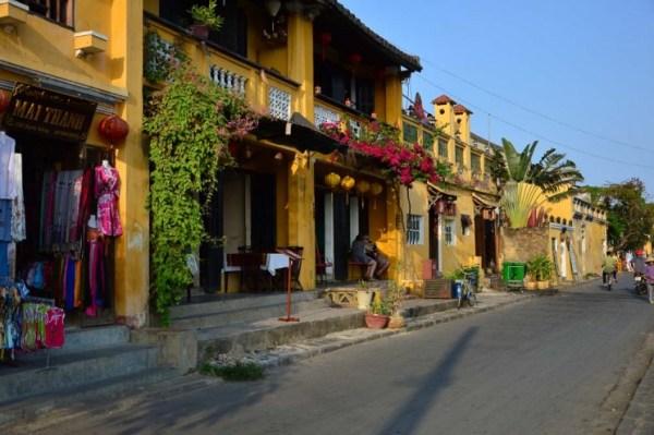 Casas amarelas em Hoi An