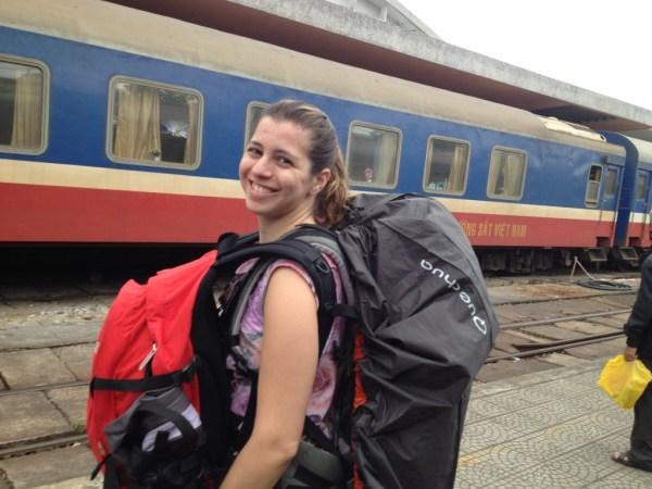 Viagem de Hanoi para Hoi An, trem noturno.