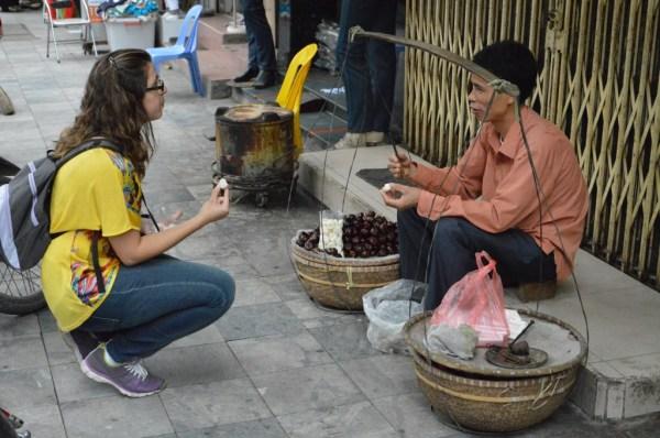 Vendedor de frutas que não falava nem o preço em inglês.