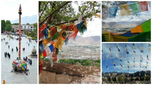 Bandeirinhas coloridas em todos os lugares Lhasa