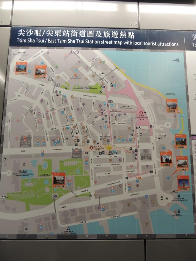 Mapa dos arredores