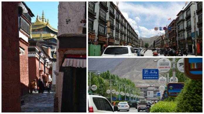 Ruas de Lhasa no Tibet