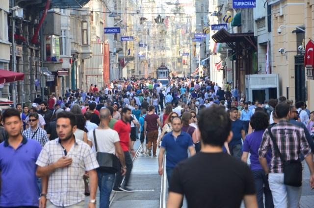Pessoas e lojas: marca registrada da Ásia