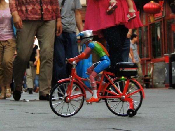 Ciclista de brinquedo...