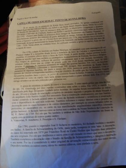 Material explicativo em português