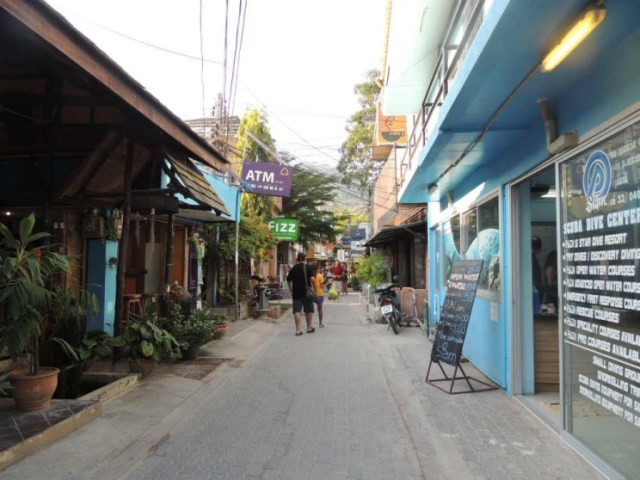 ruas de Koh Tao Tailândia