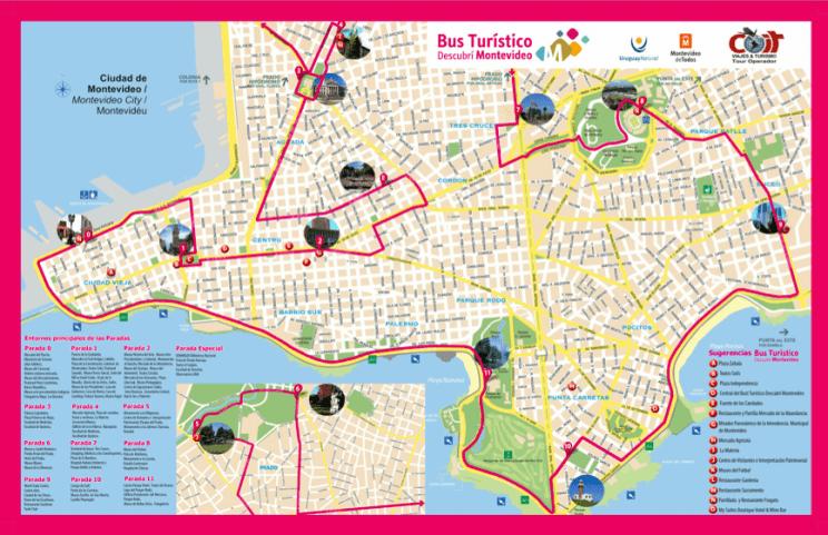 Mapa bus turistico