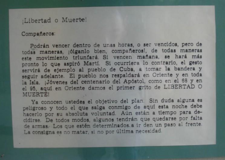 documento histórico museu da revolução havana