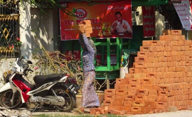 trabalhadores da construção Mandalay