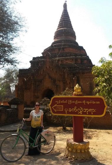 Por ali, Pedalando por Bagan