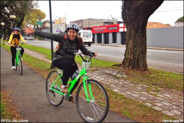 Passeio de bicicleta com Kuritbike