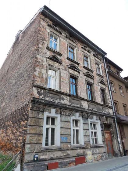 Fachada antiga do bairro judeu em Cracóvia