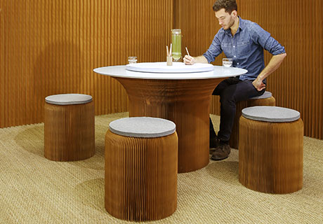 Molo Cantilever Paper Table  Contract Design