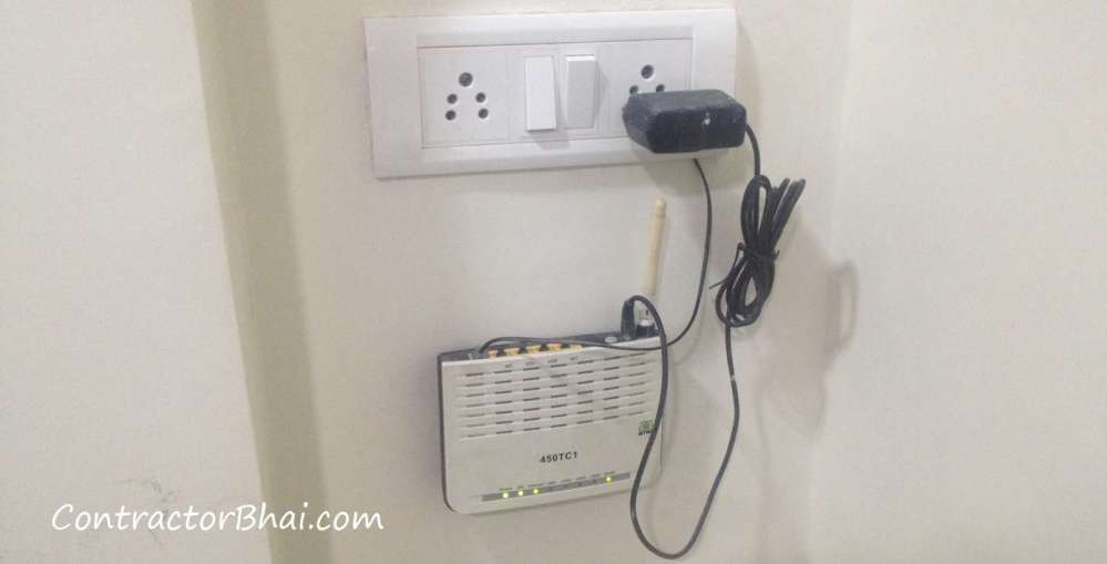 medium resolution of data cable connection wiring inside home contractorbhai home wiring internet connection