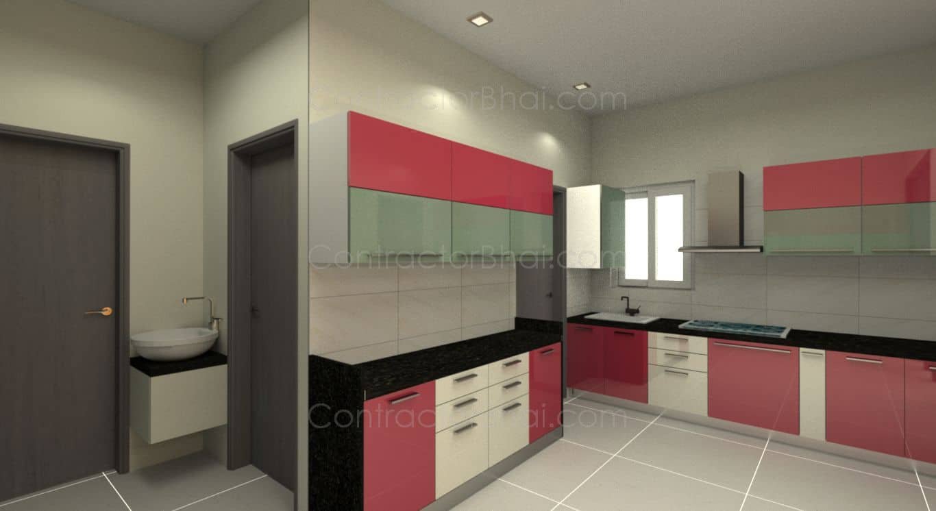 3BHK Interior Designing for Bhayli Vadodra  ContractorBhai