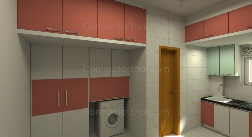 kitchen cabinet painting contractors black cabinets 1rk interior designing at bhayander - contractorbhai