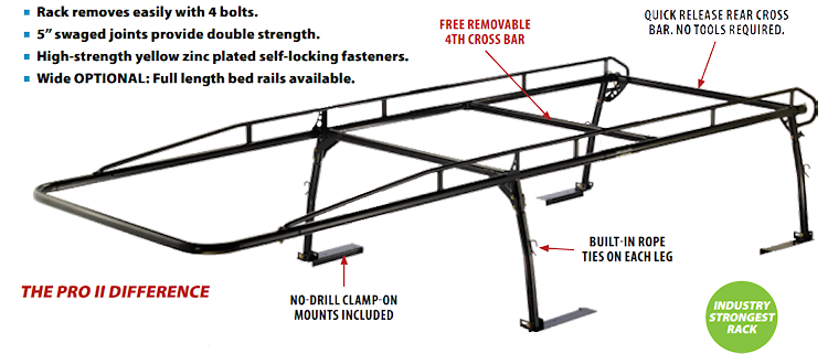 Kargo Master Pro II Truck Racks for Open Bed Pickups
