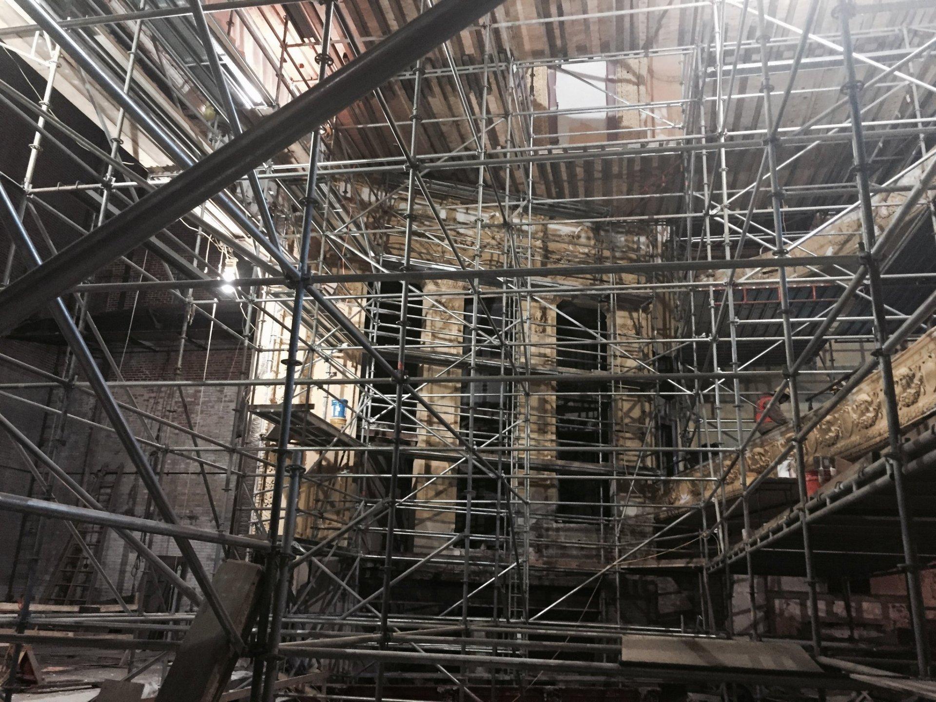 Lyric Theater scaffold 3