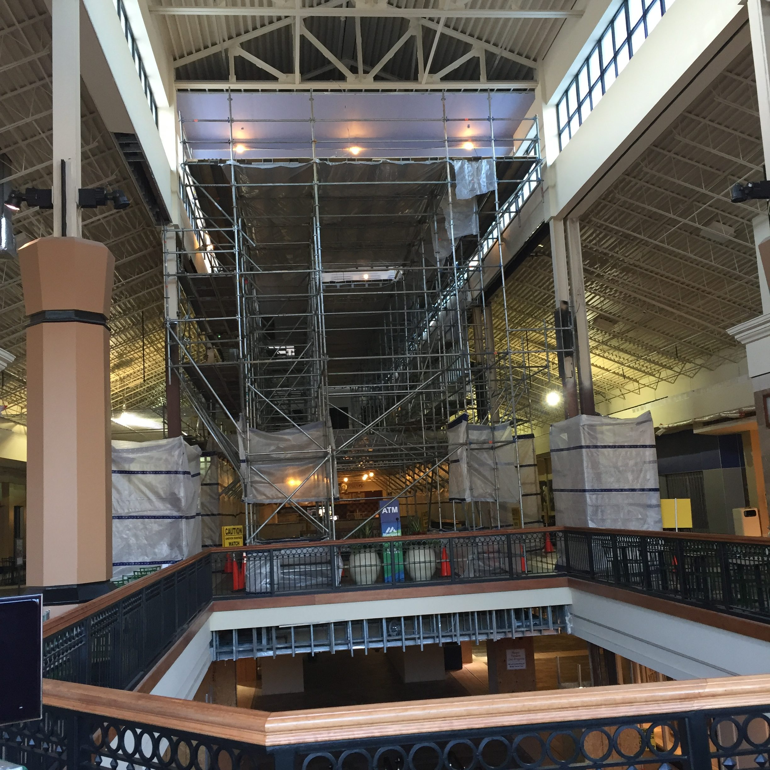Brookwood Mall Renovation scaffold 4