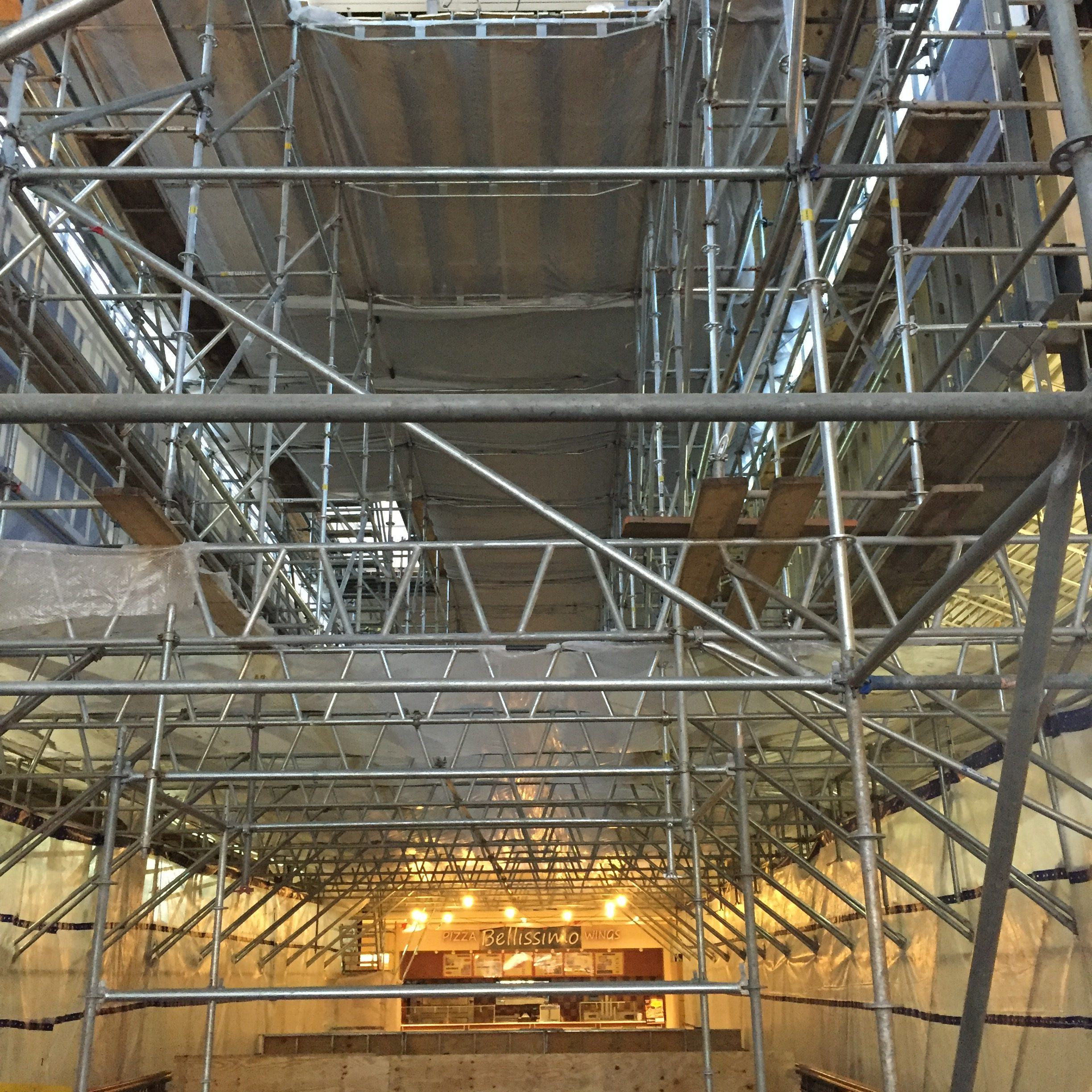 Brookwood Mall Renovation scaffold 3