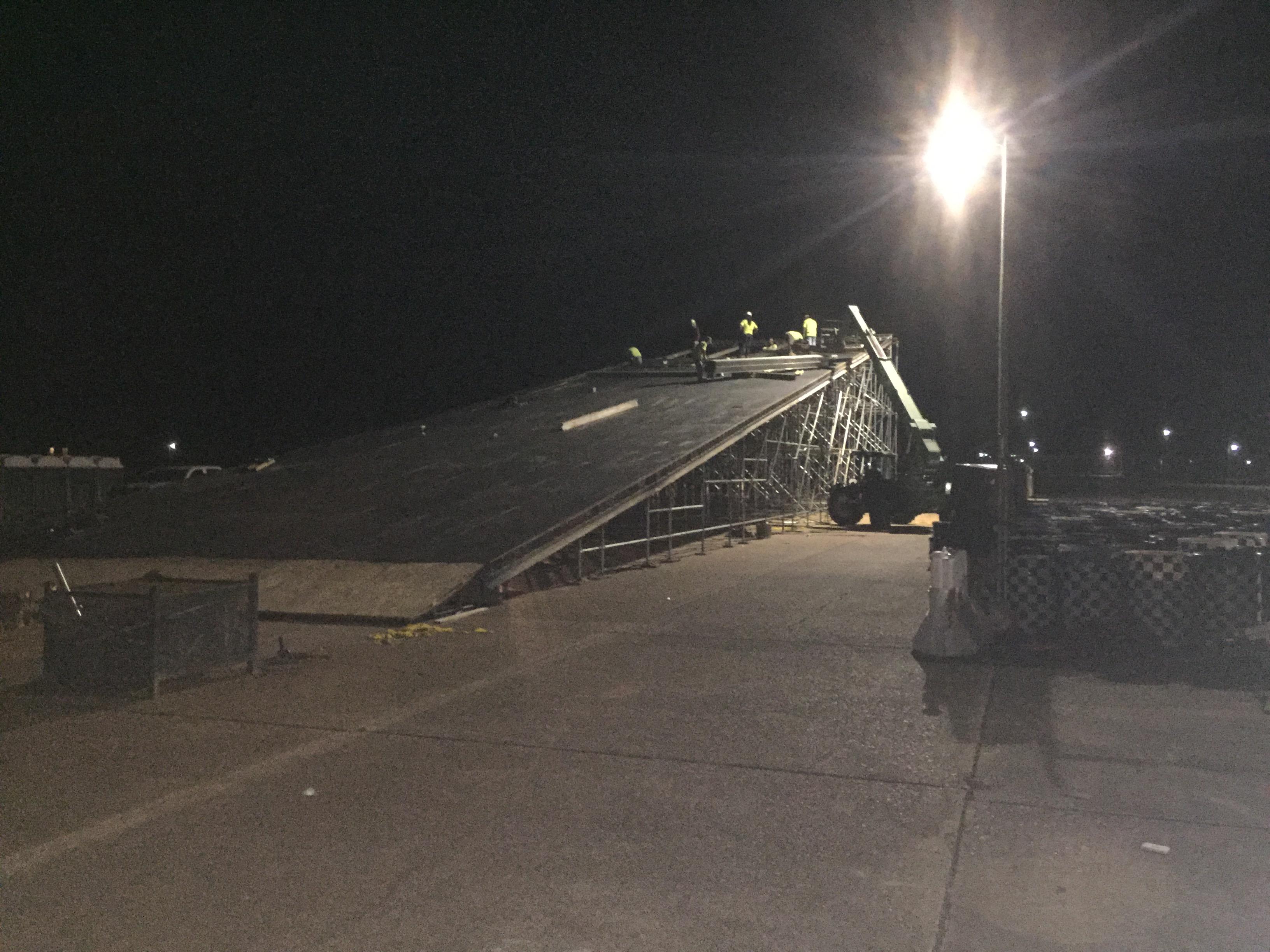 Talledega Superspeedway scaffold motorcycle ramp 3