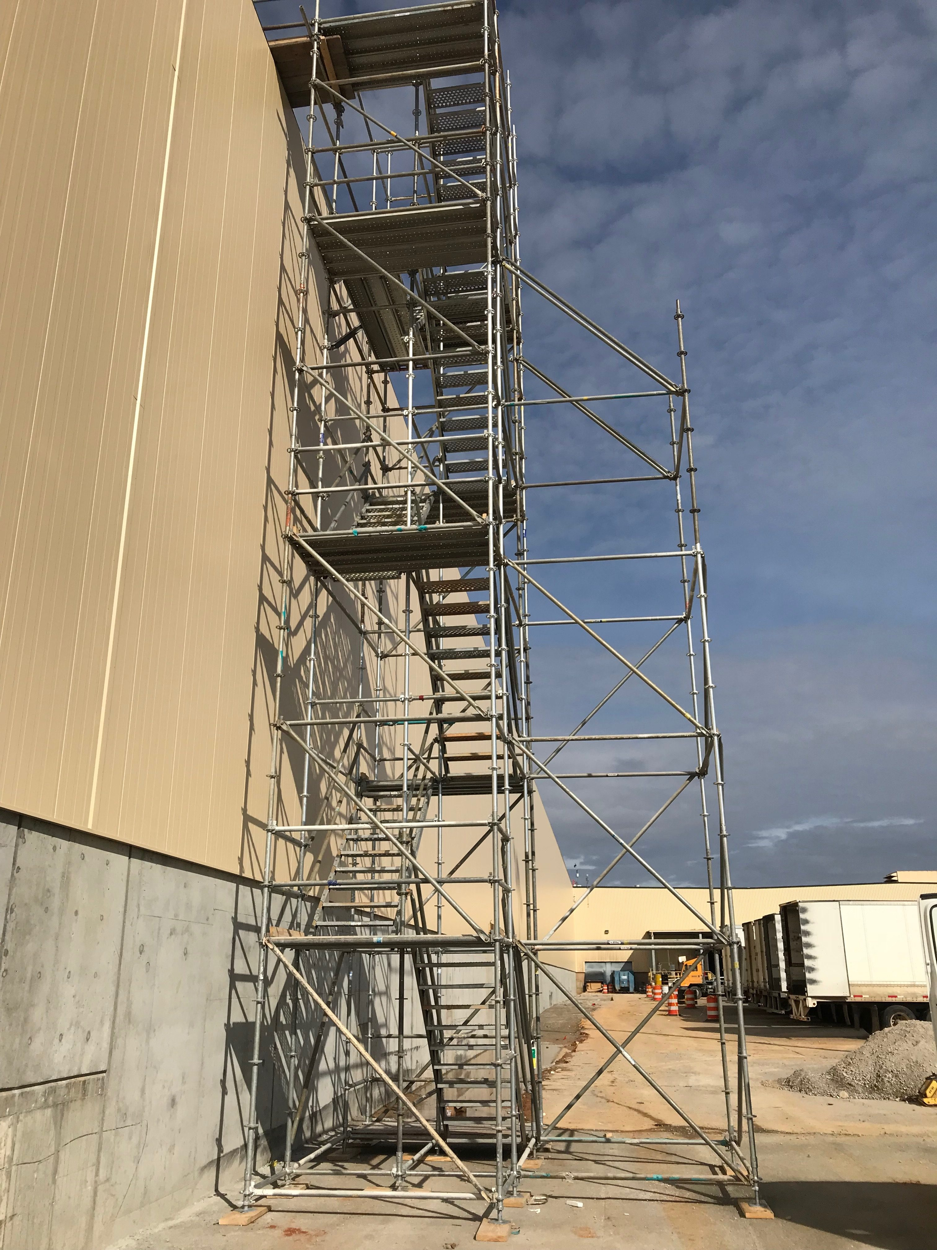 Plant scaffold stair tower 2