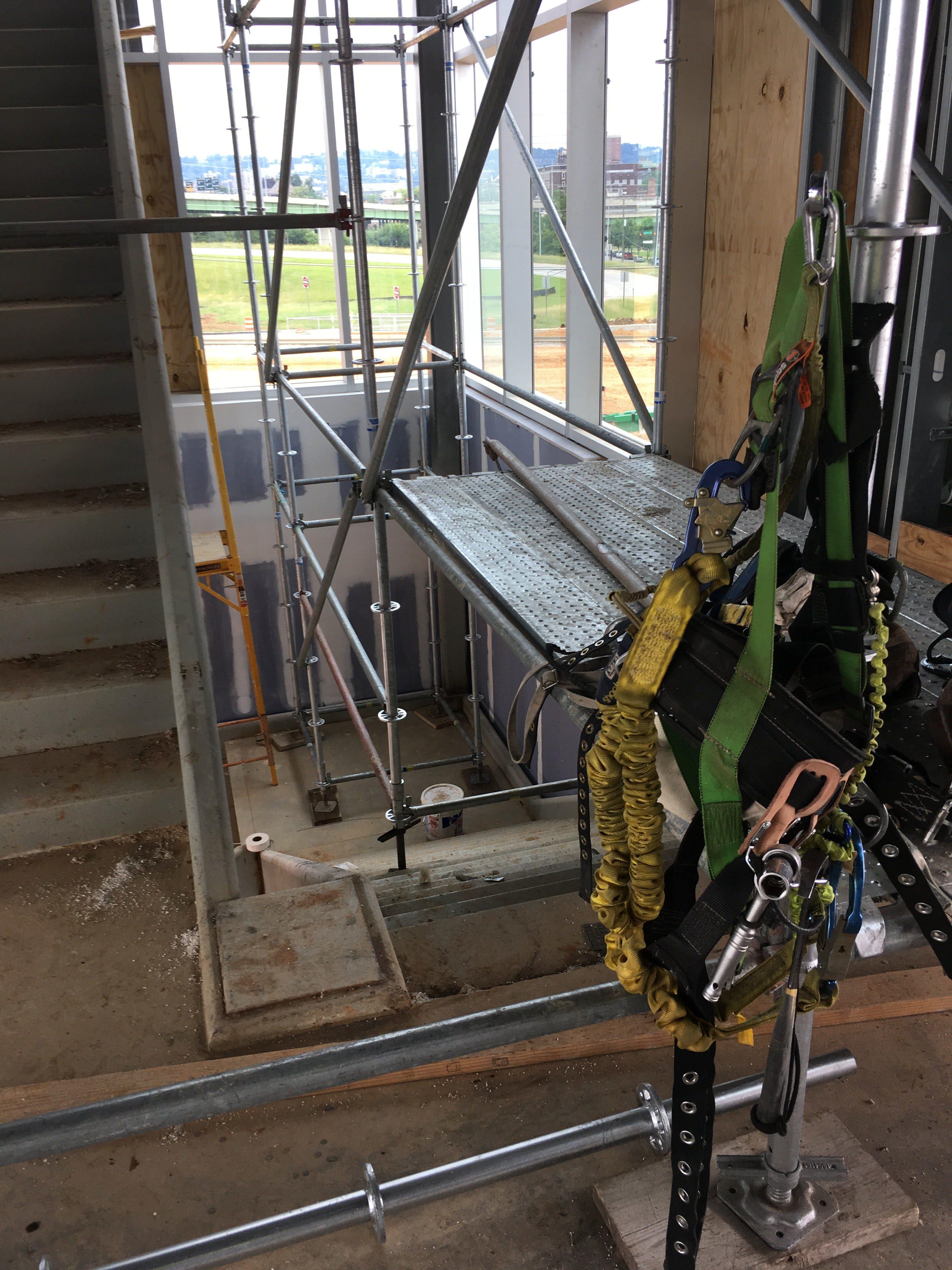 Top Golf Stairwell scaffold 8